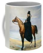 Equestrian Portrait Of Mademoiselle Croizette Coffee Mug