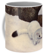 Ermine In Winter Coffee Mug