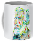Ernst Haeckel - Watercolor Portrait Coffee Mug