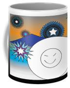 Eskimo And Snowflakes Graphic Coffee Mug