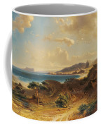 Estepona Beach With The View Of The Rock Of Gibraltar Coffee Mug