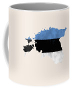 Estonia Map Art With Flag Design Coffee Mug