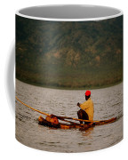 Ethiopia  Baiting A Longline On Lake Chamo Coffee Mug
