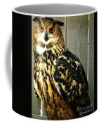Eurasian Eagle-owl With Oil Painting Effect Coffee Mug