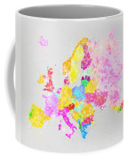 Europe Map Coffee Mug by Setsiri Silapasuwanchai