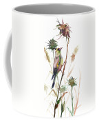 European Goldfinch In The Field Coffee Mug
