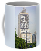 Eva Peron Outlined On The Wall Of A Skyscraper On July Nine Avenue  In Buenos Aires-argentina Coffee Mug