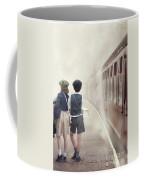 Evacuee Children On The Train Platform Coffee Mug