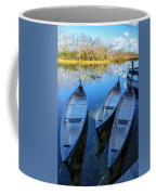 Evening Canoes At The Dock Coffee Mug