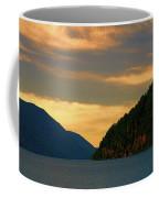 Evening Light At Lake Crescent Coffee Mug