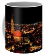 Evening Panorama - Landshut Germany Coffee Mug