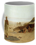 Evening Prayer In The West Coffee Mug by Frederick Goodall