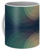 Evening Semi Circle Background Horizontal Coffee Mug