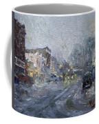 Evening Snowfall At Webster St Coffee Mug