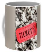 Event Ticket Lying On Pile Of Popcorn Coffee Mug