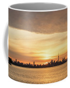 Every Morning Is Different - Toronto First Sunrays In Cyber Yellow  Coffee Mug