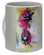 Everything A Mistake-abstract Red Painting Coffee Mug