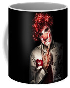 Evil Blood Stained Clown Contemplating Homicide Coffee Mug