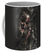 Evil Male Zombie Screaming Out In Bloody Fear Coffee Mug