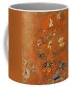 Evocation Of Butterflies Coffee Mug by Odilon Redon