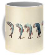 Evolution Of Fish Into Old Man, C. 1870 Coffee Mug