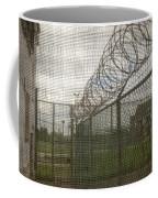 Exercise Yard Through Window In Prison Coffee Mug