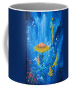 Exotic Colorful Flowers Abstract Composition Coffee Mug