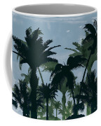 Exotic Palm Trees Silhouettes Water Color Coffee Mug
