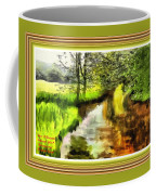 Expressionist Riverside Scene L A With Alt. Decorative Printed Frame. Coffee Mug