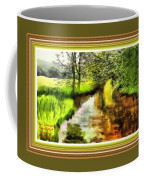 Expressionist Riverside Scene L A With Decorative Ornate Printed Frame Coffee Mug