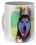 Expressive Siberian Husky  A62117d Coffee Mug by Mas Art Studio