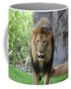 Expressive Male Lion Prowling Around In Nature Coffee Mug