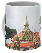 Exquisite Details On The Building Of Wat Arun In Bangkok, Thailand Coffee Mug