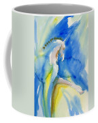 Extended Trot In Blue Coffee Mug