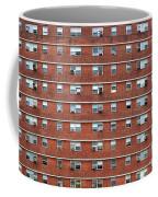 External Facade With Many Windows All Identical. Coffee Mug