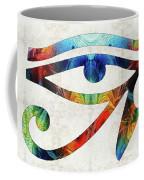 Eye Of Horus - By Sharon Cummings Coffee Mug
