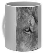 Eye Of The Lion #2  Black And White  Coffee Mug