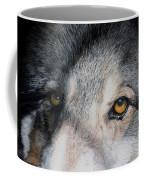 Eyes Of The Wolf Dog Coffee Mug