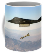 F 117 Nighthawk Engages Its Target And Drops A Gbu 28 Guided Bomb Coffee Mug