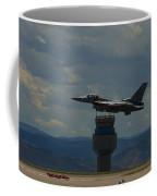 F-16 And Tower Coffee Mug