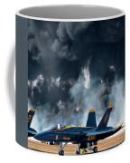 F/a -18 Super Hornet, U S Navy Blue Angeles Coffee Mug