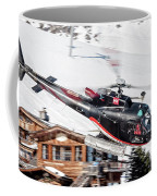 F-gsdg Eurocopter As350 Helicopter Courchevel Coffee Mug