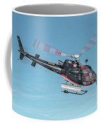 F-gsdg Eurocopter As350 Helicopter In Blue Sky  Coffee Mug