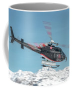 F-gsdg Eurocopter As350 Helicopter Over Mountain Coffee Mug
