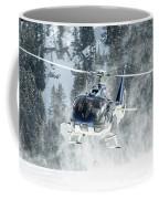 F-hana Eurocopter Ec-130 Landing Helicopter At Courchevel Coffee Mug