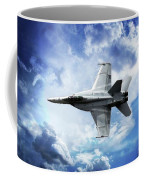 F18 Fighter Jet Coffee Mug by Aaron Berg