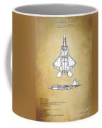 F22 Raptor Blueprint Coffee Mug