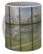 Prison Yard With Razor Wire, Guard House And Satellite Dish Coffee Mug