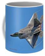 Fa 22 Raptor From Air Show Coffee Mug