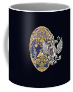 Faberge Tsarevich Egg With Surprise On Blue Velvet Coffee Mug